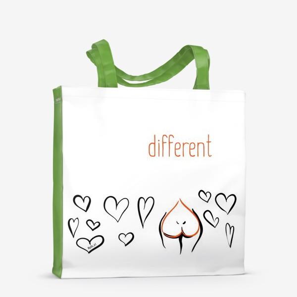 Сумка-шоппер «Different | Сердца»