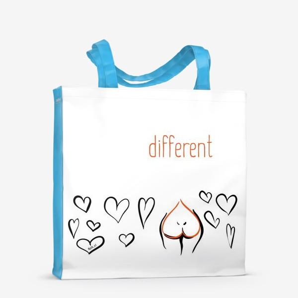 Сумка-шоппер «Different   Сердца»