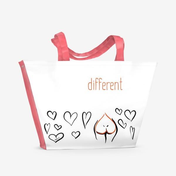 Пляжная сумка «Different | Сердца»