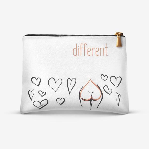 Косметичка «Different | Сердца»