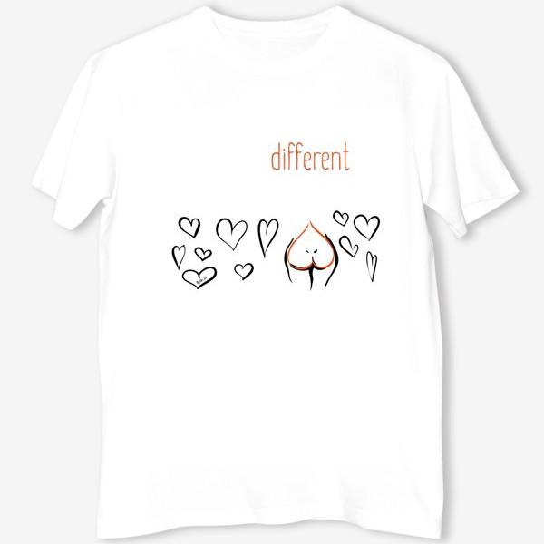 Футболка «Different | Сердца»