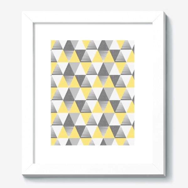 Картина «треугольники узор»