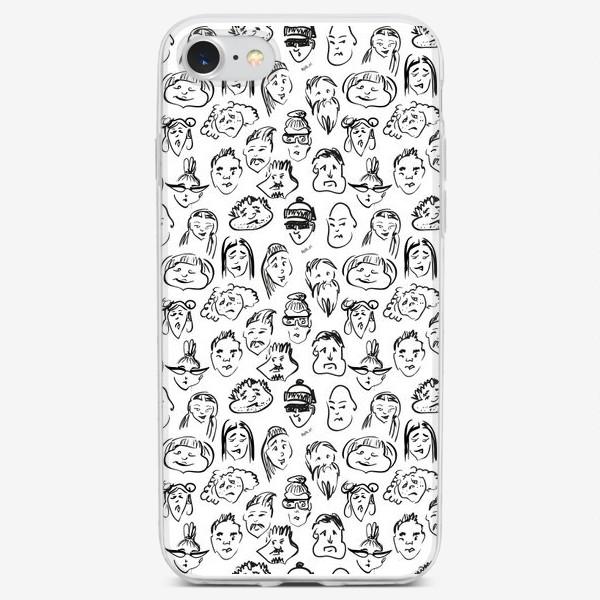 Чехол iPhone «Different | люди паттерн»