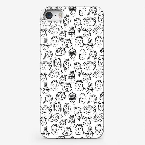 Чехол iPhone «Different   люди паттерн»