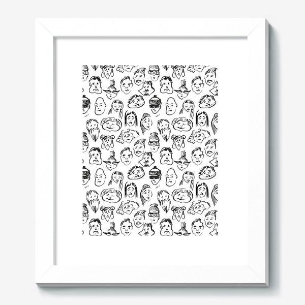 Картина «Different   люди паттерн»