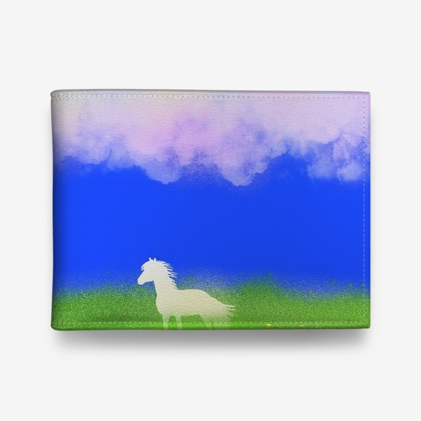 Кошелек «Белая лошадь в поле»