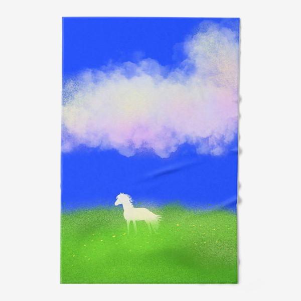 Полотенце «Белая лошадь в поле»