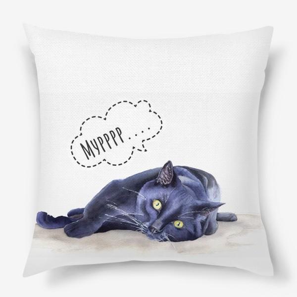 Подушка «Черная кошка»