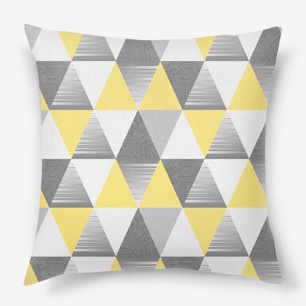 Подушка «треугольники узор»