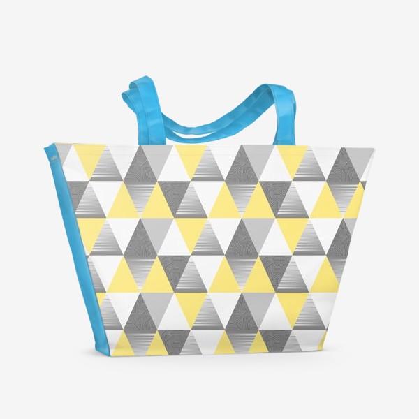 Пляжная сумка «треугольники узор»