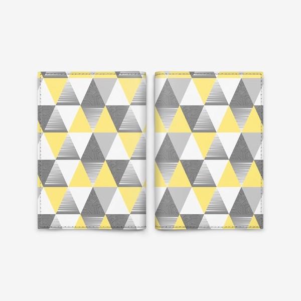 Обложка для паспорта «треугольники узор»