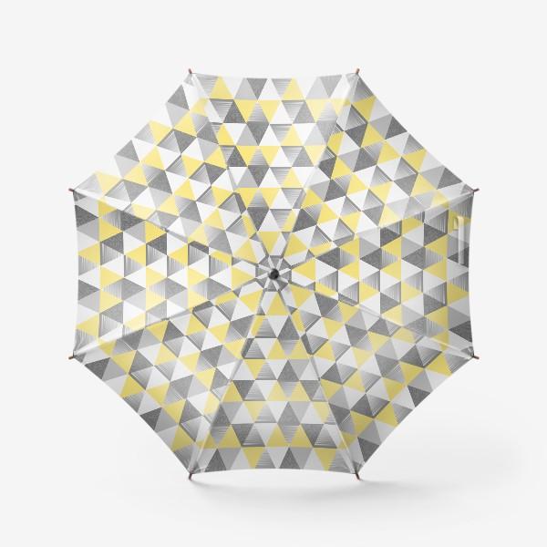Зонт «треугольники узор»