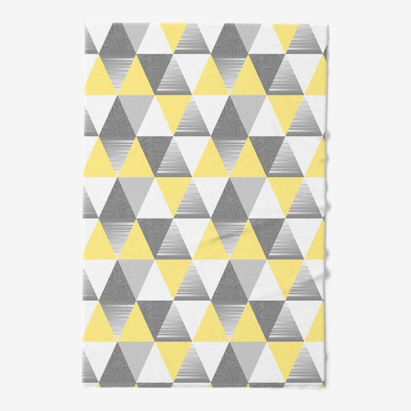 Полотенце «треугольники узор»