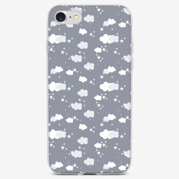 Чехол iPhone «Облака серый»