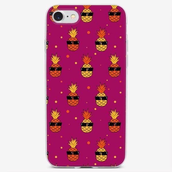 Чехол iPhone «Ананас фиолетовый»