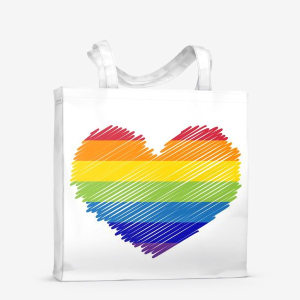 Сумка-шоппер «Радужное сердечко, радость»