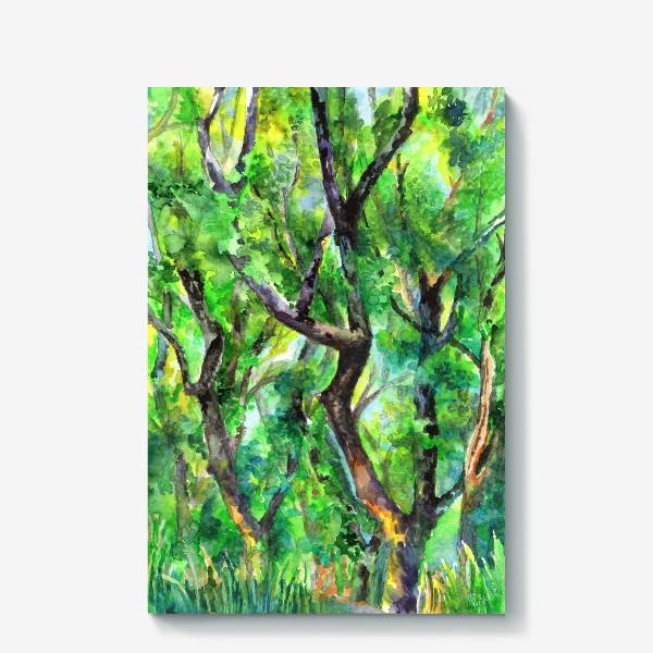 Холст «лес»