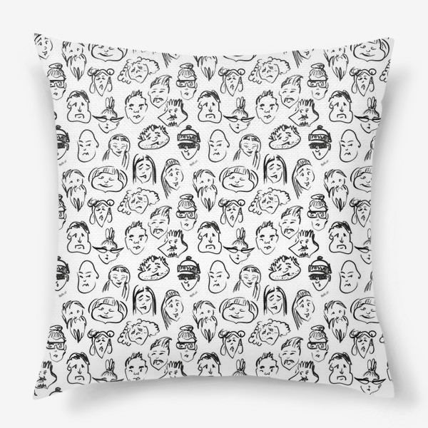 Подушка «Different   люди паттерн»