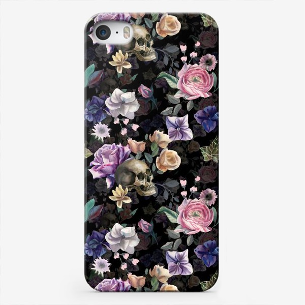Чехол iPhone «Dusk garden. Black»