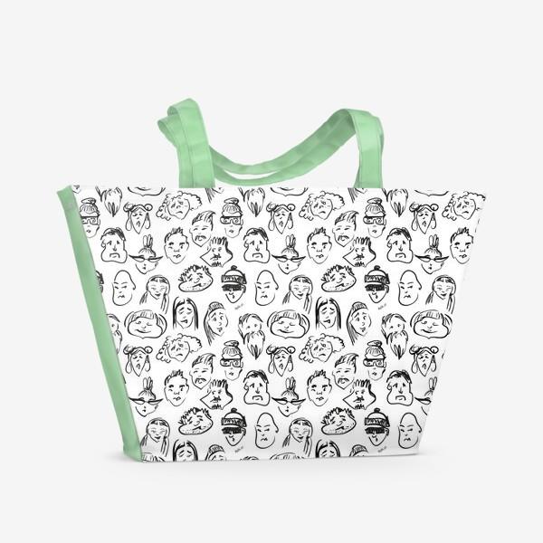 Пляжная сумка «Different | люди паттерн»