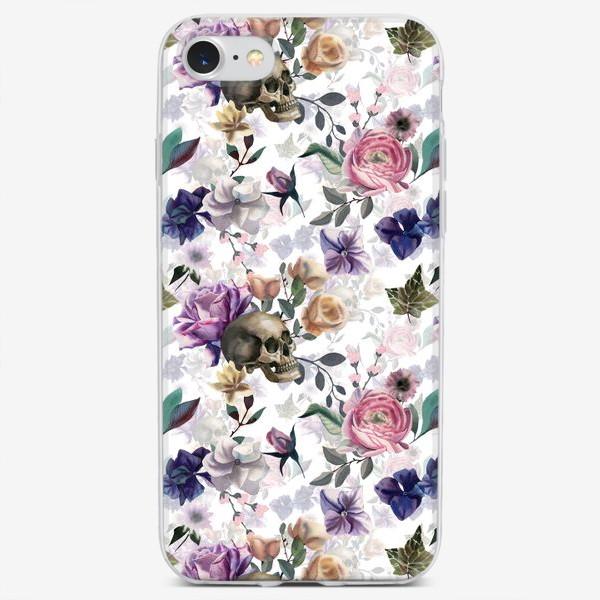 Чехол iPhone «Dusk garden. White»