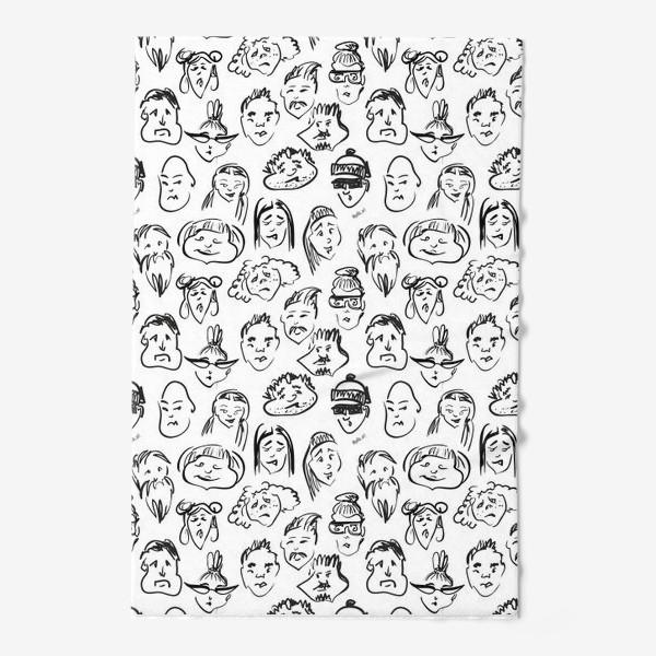 Полотенце «Different   люди паттерн»