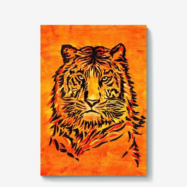 Холст «Мудрый тигр »