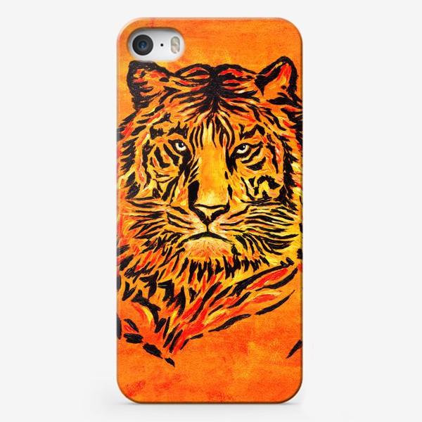 Чехол iPhone «Мудрый тигр »