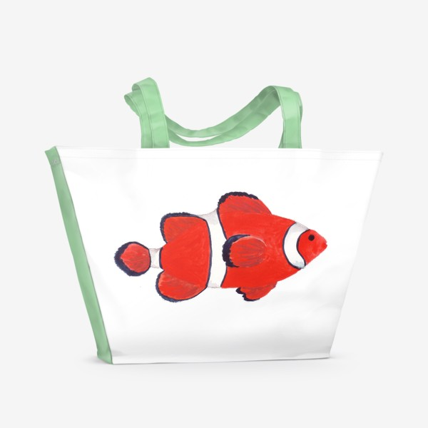 Пляжная сумка «Рыба клоун из моря»