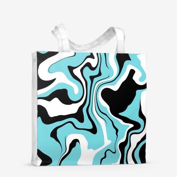 Сумка-шоппер «Волны голубые»