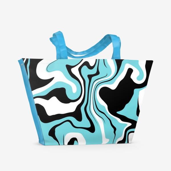 Пляжная сумка «Волны голубые»