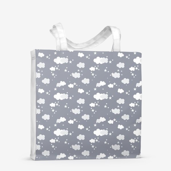 Сумка-шоппер «Облака серый»