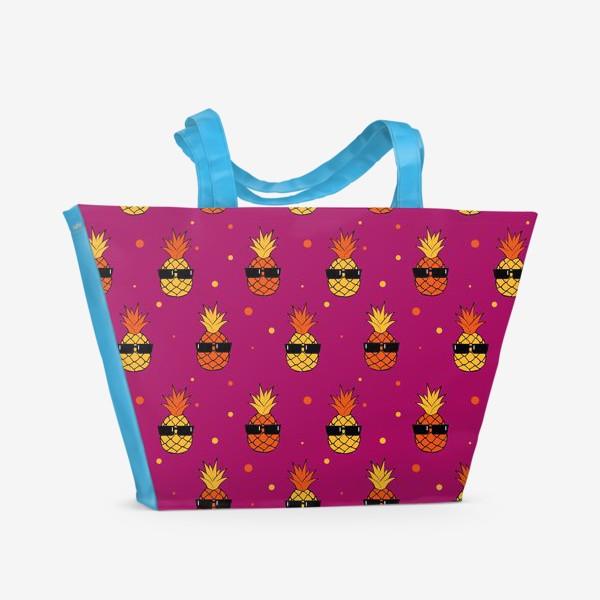 Пляжная сумка «Ананас фиолетовый»