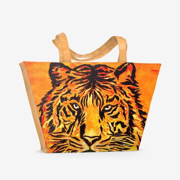 Пляжная сумка «Мудрый тигр »