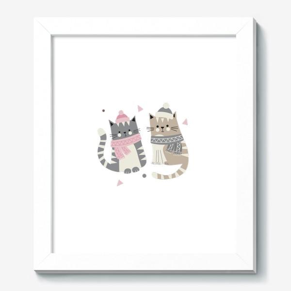 Картина «Зимние котики»