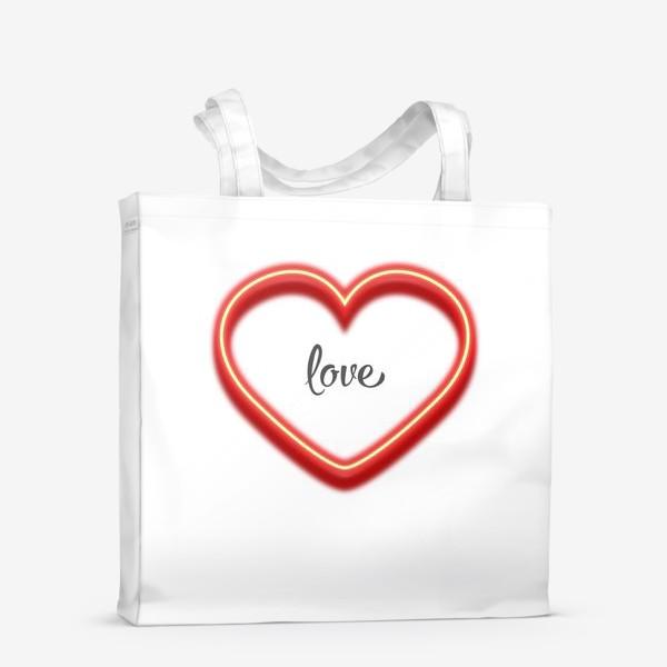 Сумка-шоппер «love in the heart»