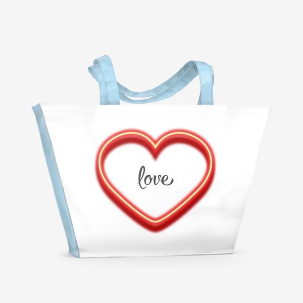 Пляжная сумка «love in the heart»