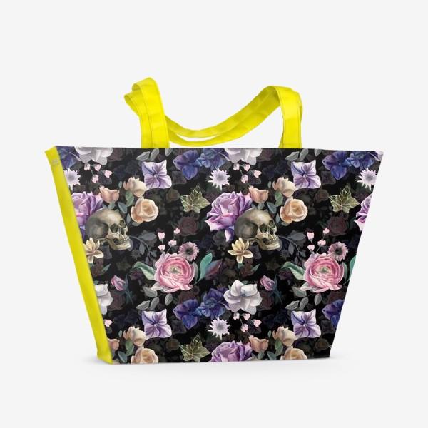 Пляжная сумка «Dusk garden. Black»
