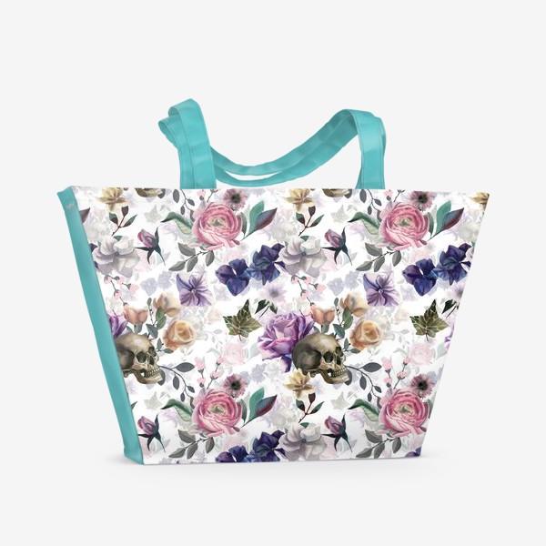 Пляжная сумка «Dusk garden. White»