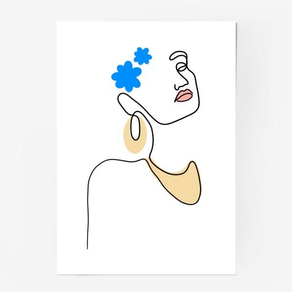 Постер «Дева с цветком »