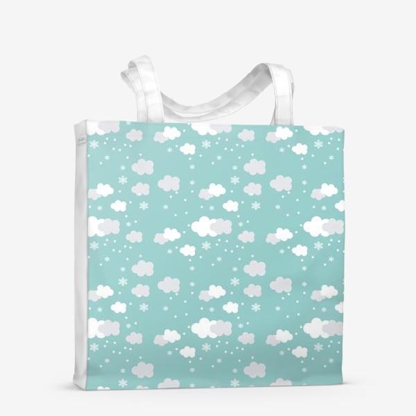 Сумка-шоппер «Облака бирюзовый»