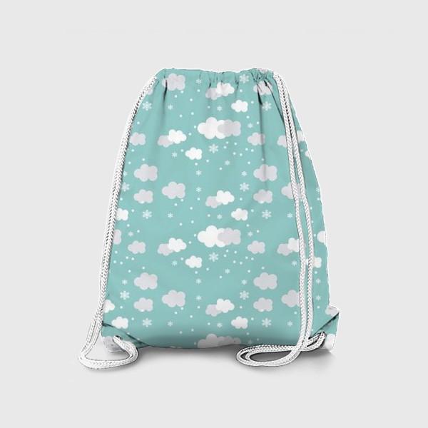 Рюкзак «Облака бирюзовый»