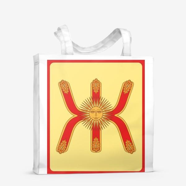 Сумка-шоппер «Буква Ж в старорусском стиле»