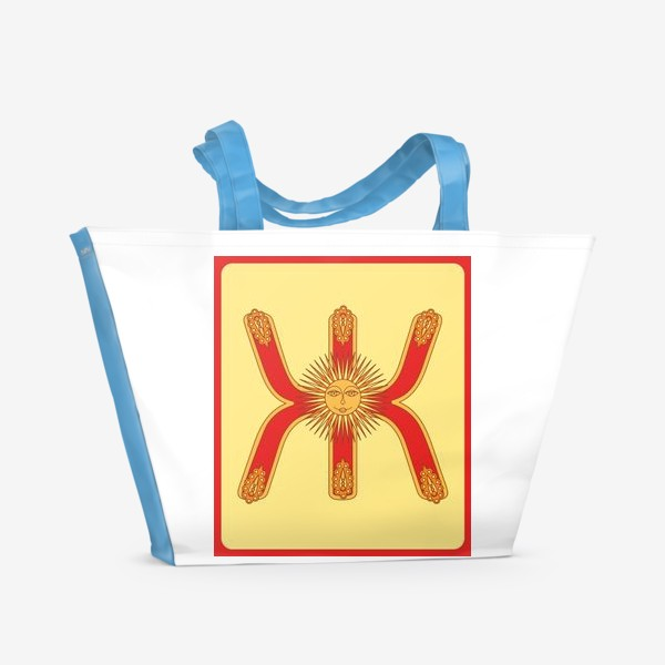 Пляжная сумка «Буква Ж в старорусском стиле»