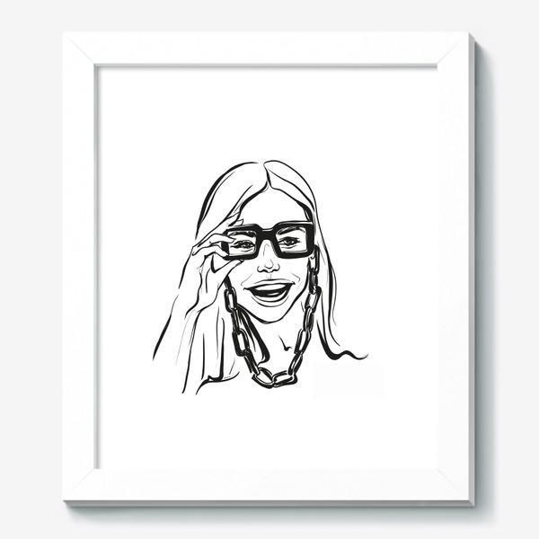 Картина «Fashion | Девушка с очками»