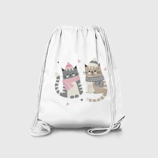 Рюкзак «Зимние котики»