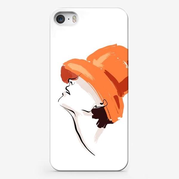 Чехол iPhone «Fashion | Девушка в шляпе»
