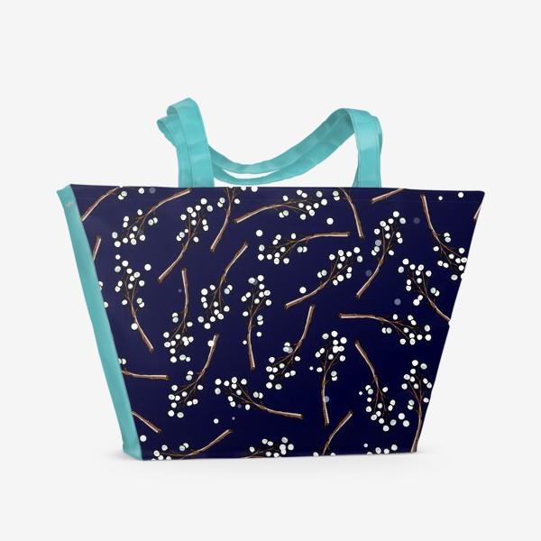 Пляжная сумка «рождественская омела»