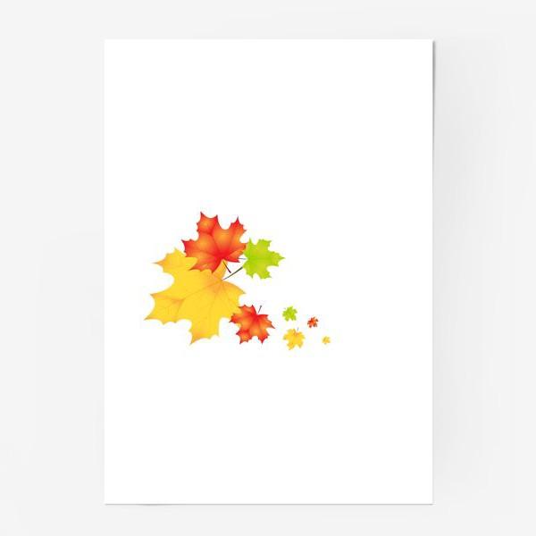 Постер «Кленовые листья»