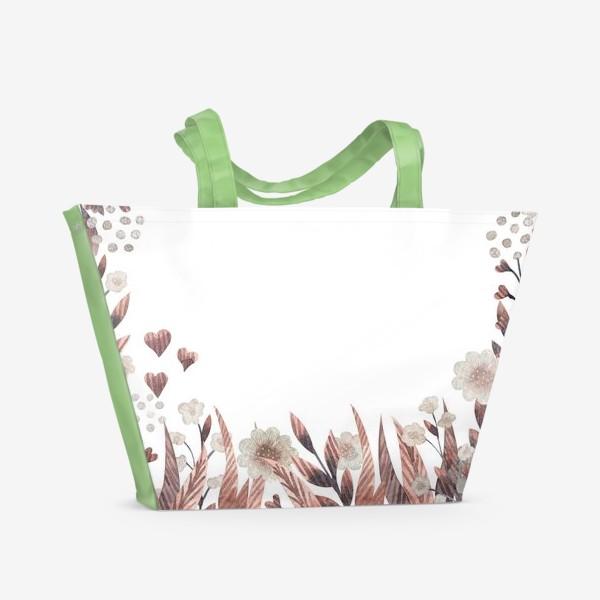 Пляжная сумка «Осенние цветы»